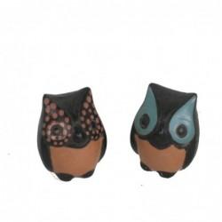 1PE0078 NAZCA CERAMIC OWLS...