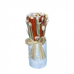 1FI0701 WOODEN VASE WITH...