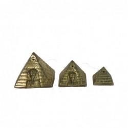 1PE0437 BRASS PYRAMIDS SET...