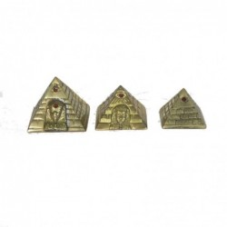 1PE0438 BRASS PYRAMIDS SET...