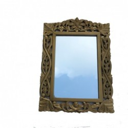 1IN0949 - WOODEN MIRROR...
