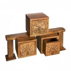 1IN0905 MANGO WOOD BOXES...
