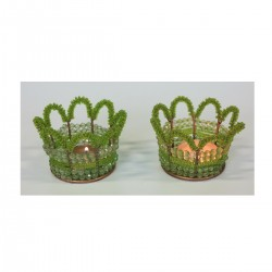 1CI1627  SET OF 2 GLASS...